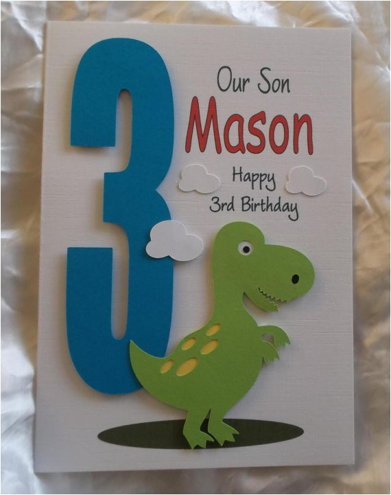 personalised 1st 2nd any age dinosaur