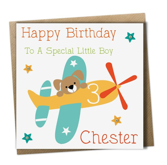 personalised boys birthday card son