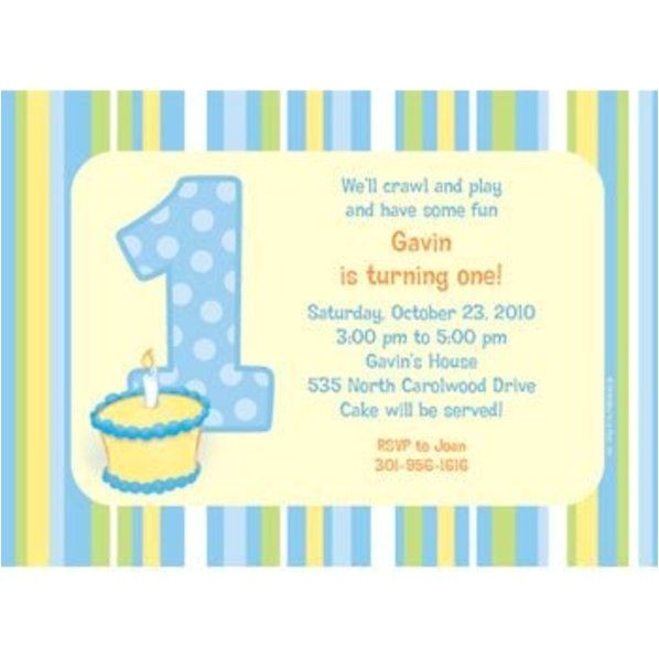 lil boy 1st birthday personalized invitation each