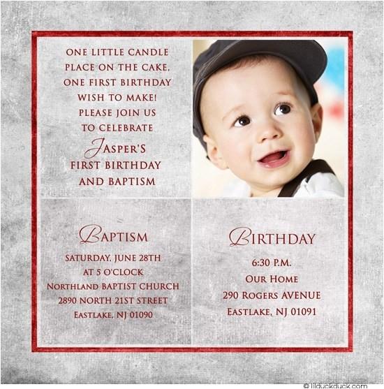 1st birthday party invitation letter