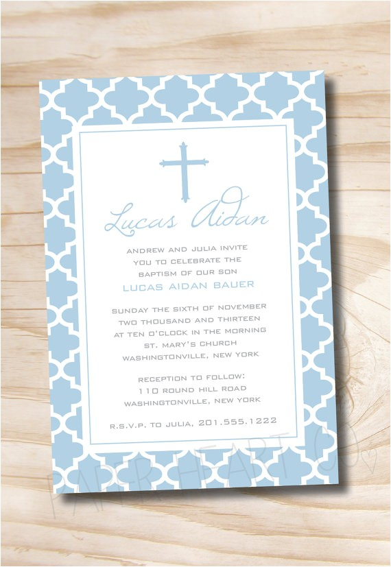 modern baptism custom baptism invitation christening 2