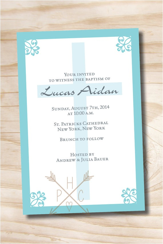 simply chic custom baptism invitation christening