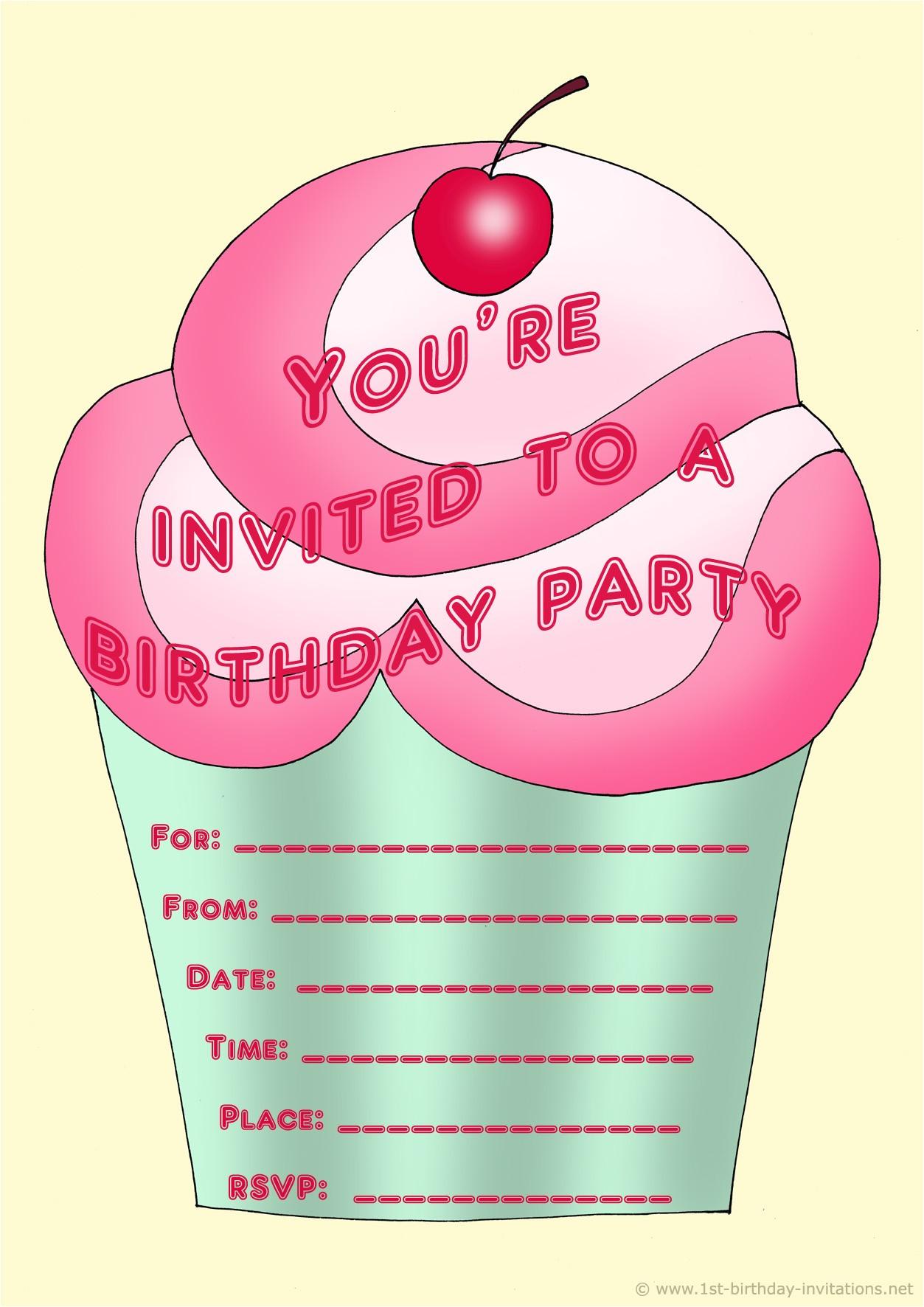 personalized birthday invitations