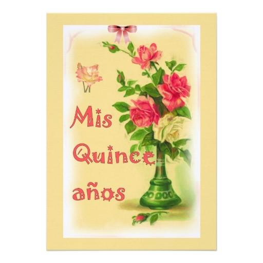 personalized vintage image quinceanera invitation 161436406488680157