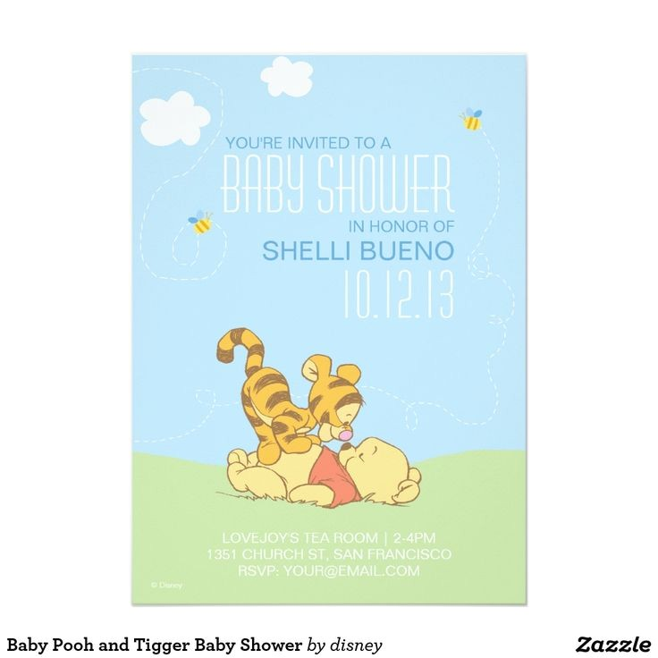 personalized winnie the pooh baby shower invitations