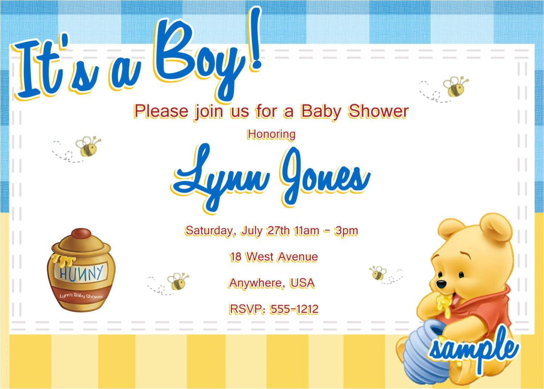 winnie the pooh baby shower invitations