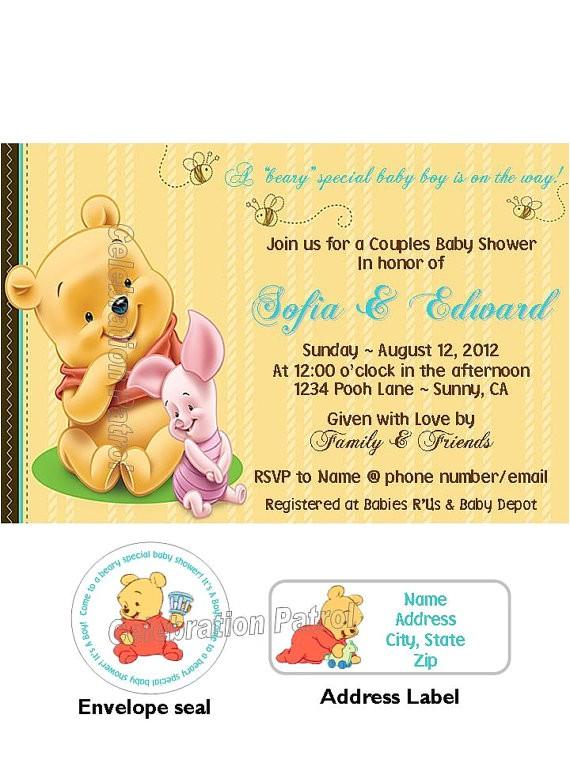 winnie the pooh theme custom baby shower