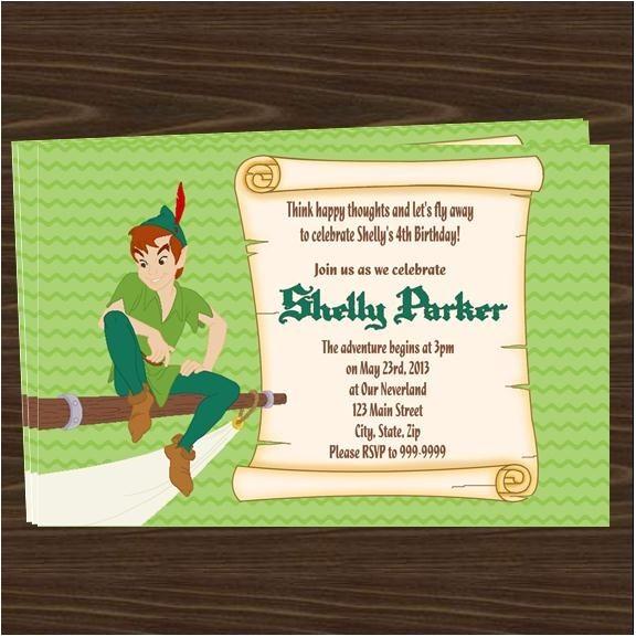 peter pan birthday party invitations 2