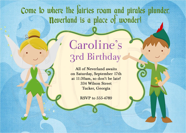 peter pan birthday party invitations