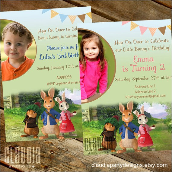 peter rabbit invitation peter rabbit