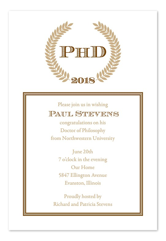 Phd Graduation Party Invitation Wording Doctoral Graduation Invitations