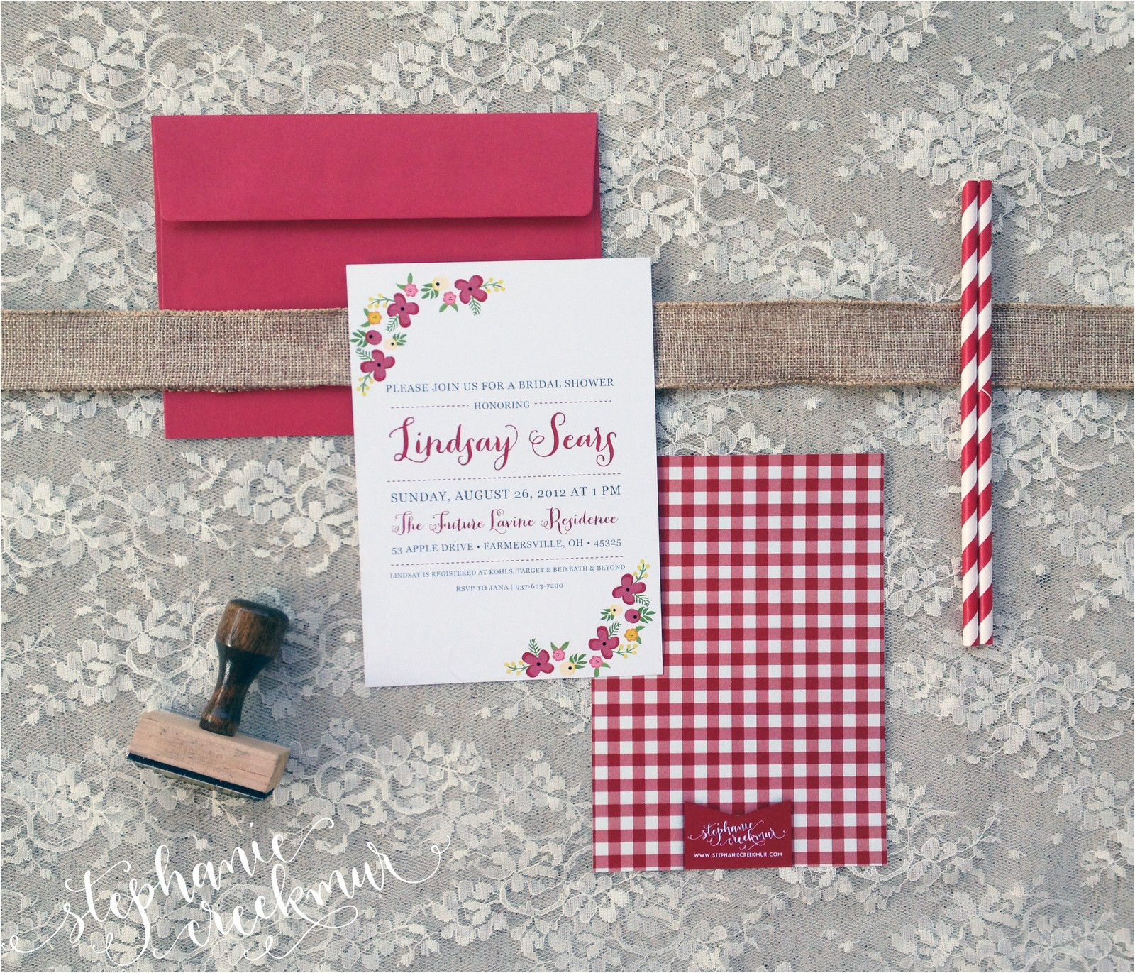 in studio mbfw bridal shower invitations
