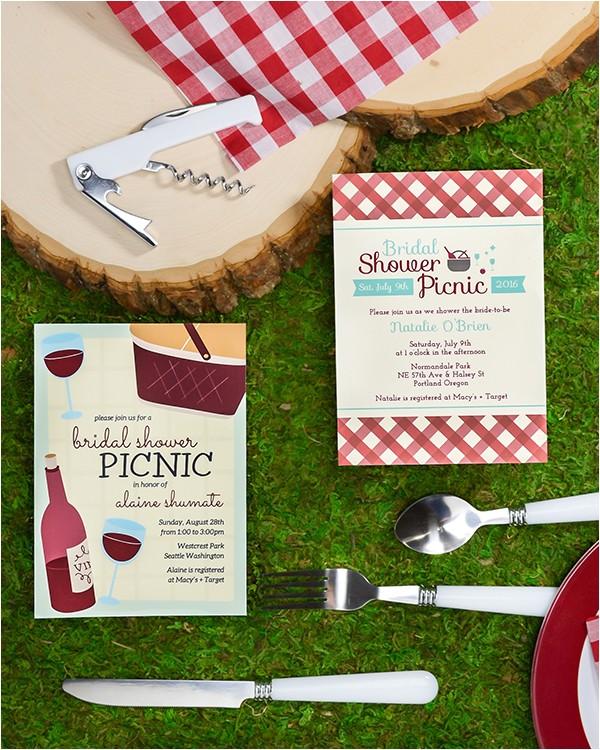 picnic theme wine bridal showers
