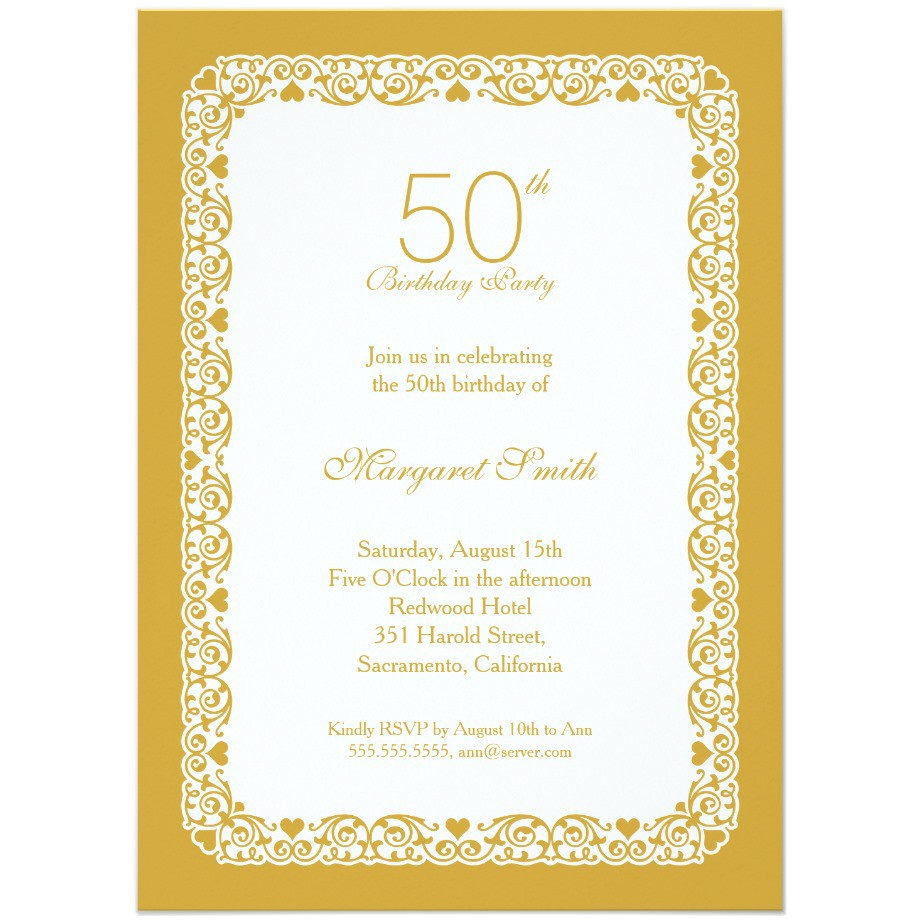 50 birthday invitations