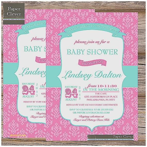 pink and aqua baby shower invitations