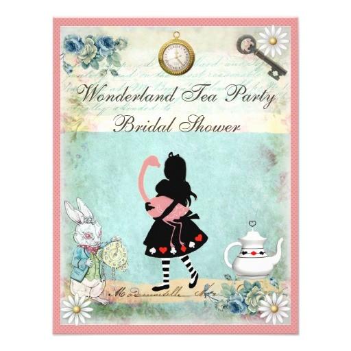 alice pink flamingo bridal shower invitation 161181489009612796
