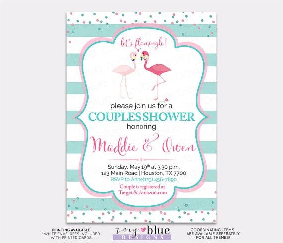 flamingo couples shower invitation flamingo bridal