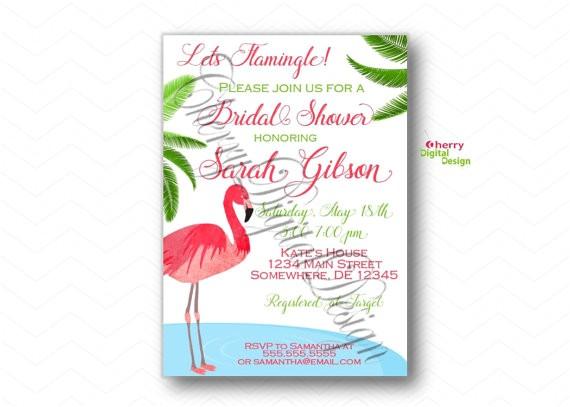 lets flamingle pink flamingo bridal