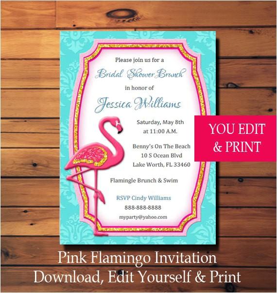 pink flamingo invitation pink flamingo party