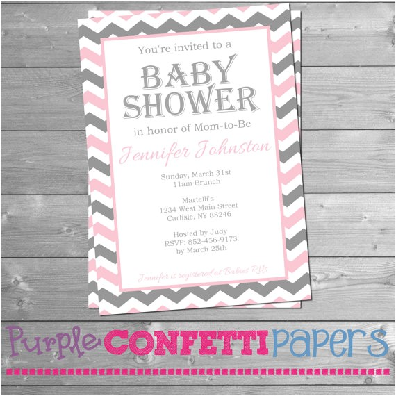 printable baby shower invitation baby girl 4