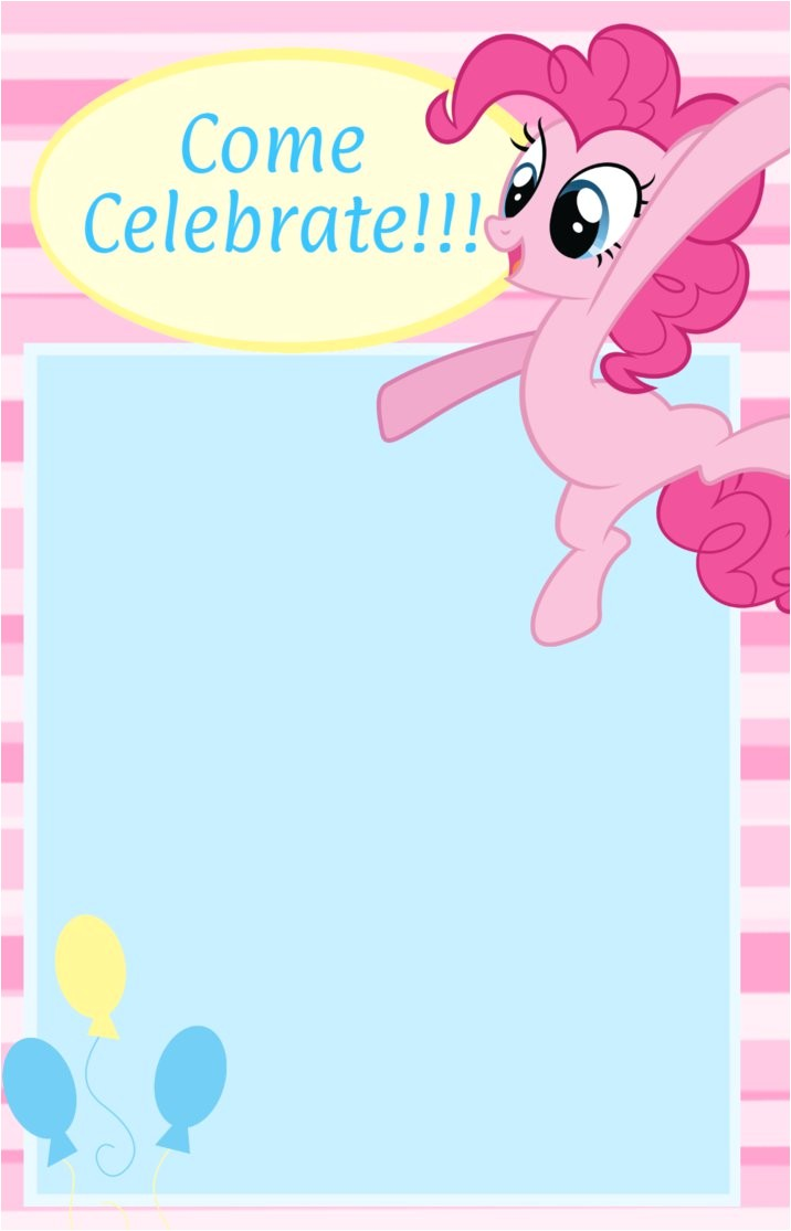Pinkie Pie Birthday Invitation D