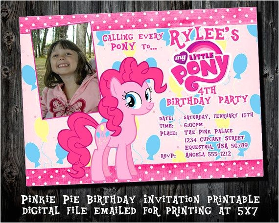 pinkie pie birthday party invitations printable