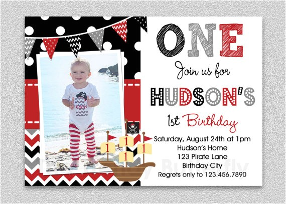 pirate birthday invitation boys pirate