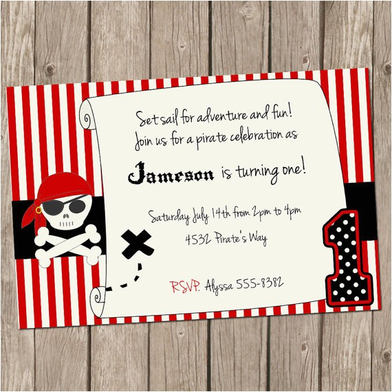 pirate birthday invitation pirate