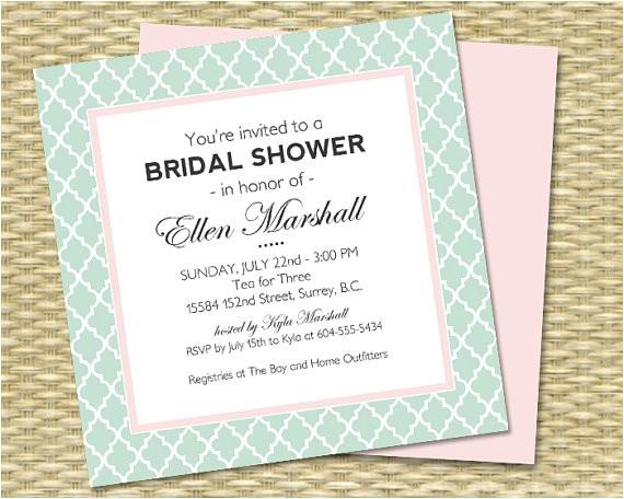 bridal shower invitation baby shower birthday