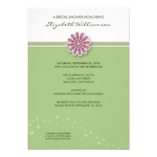 bridal shower invitations simple