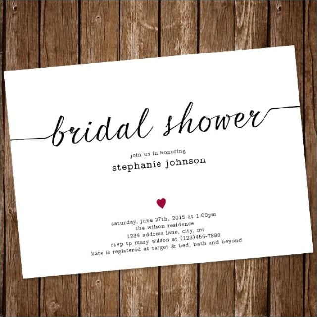 simple bridal shower invitation