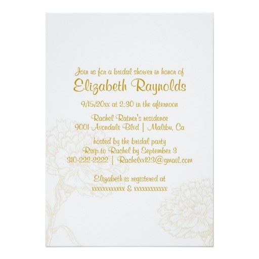 Plain Bridal Shower Invitations Simple Gold Bridal Shower Invitations