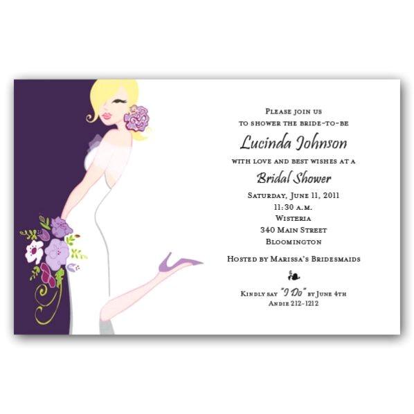 Mindy Weiss Plum Bridal Shower Invitations p 39 MW1 167