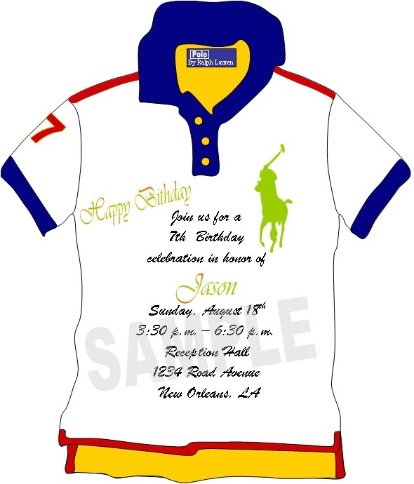 custom made polo shirt invitations