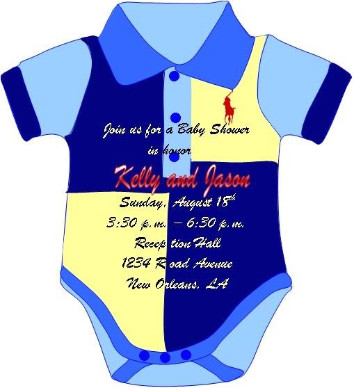 custom made polo shirt invitations