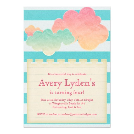 bridal shower invitations pool party