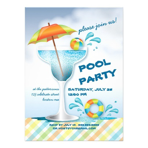 Pool Party Invitation Ideas for Adults Adult Pool Party Summer Cocktail Invitation