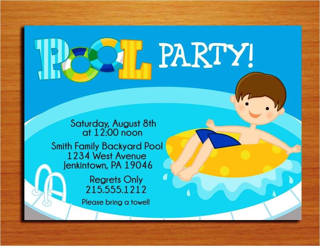 extraordinary pool party invitation ideas homemade 1 minimalist invitation