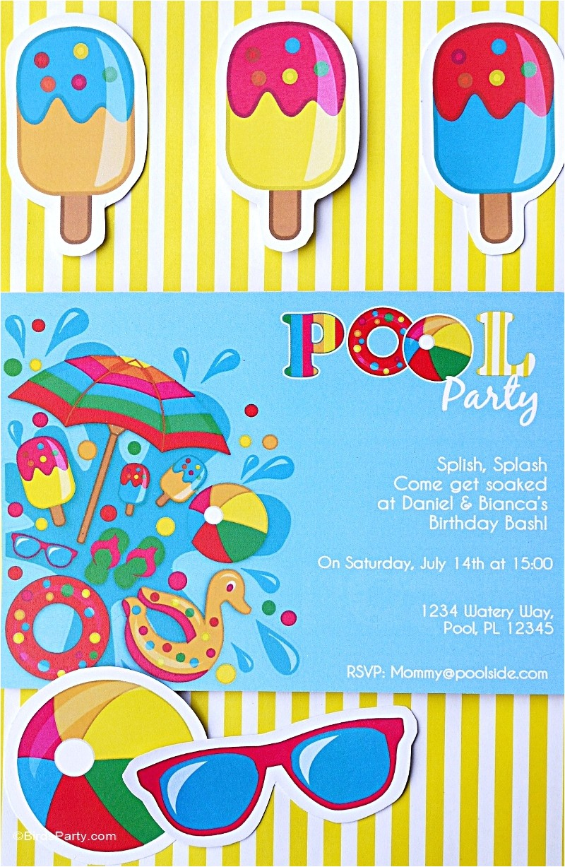 pool party ideas and new printable