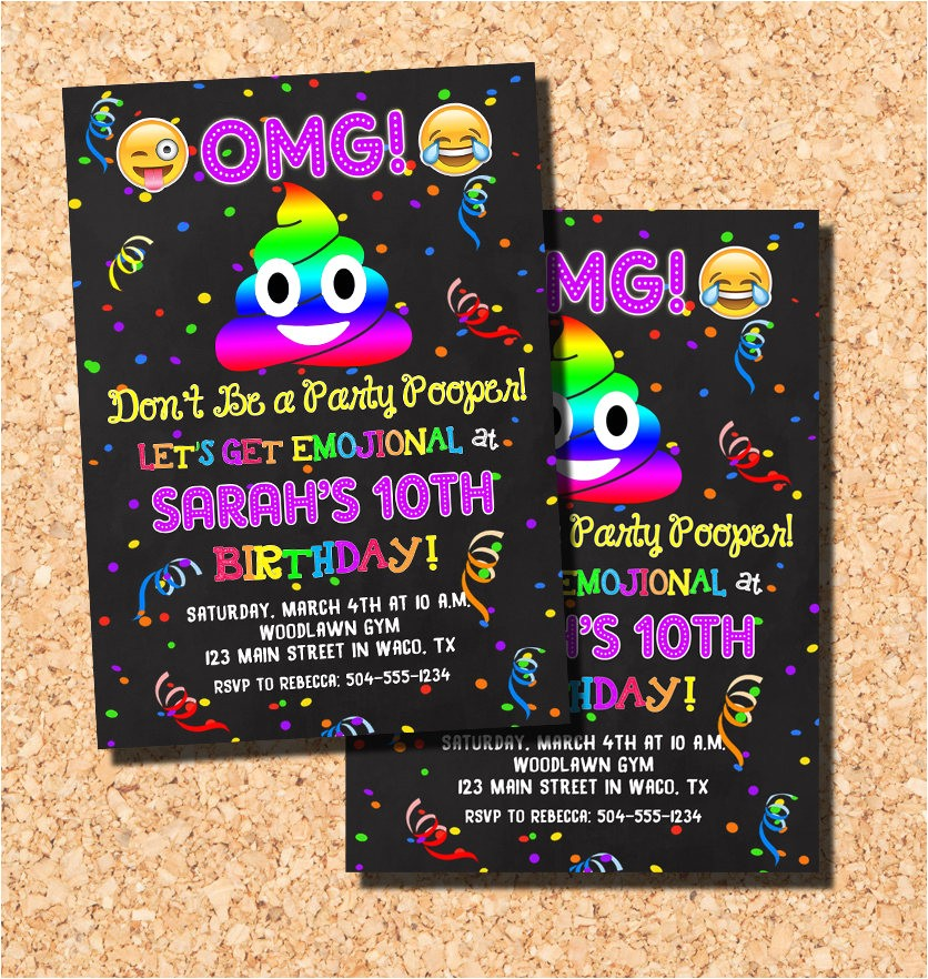 emoji invitations emoji birthday