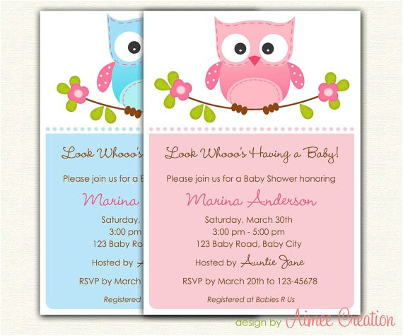 owl baby shower invitations printable diy for baby boy and baby