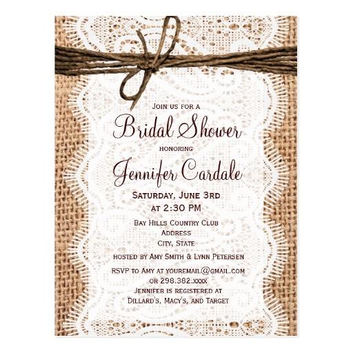 Postcard Bridal Shower Invitations Bridal Shower Invitations Bridal Shower Postcard