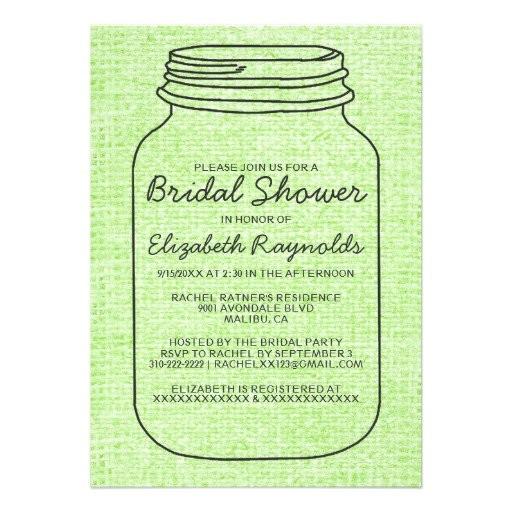 bridal shower postcard invitations templates
