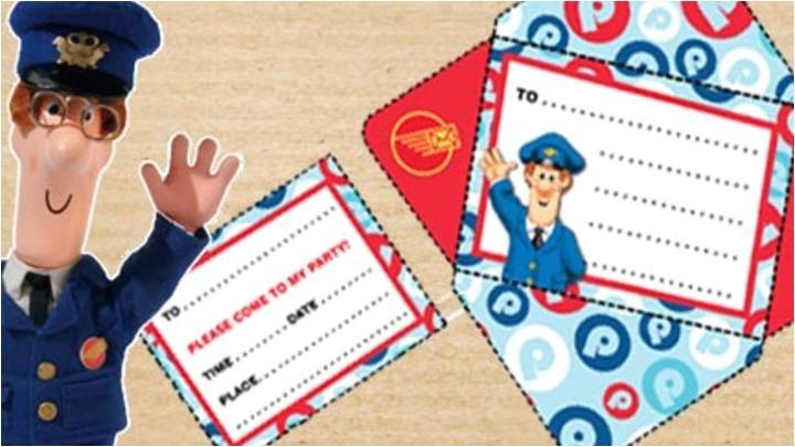 Postman Pat Party Invitations Postman Pat Party Invitation Cbeebies Bbc