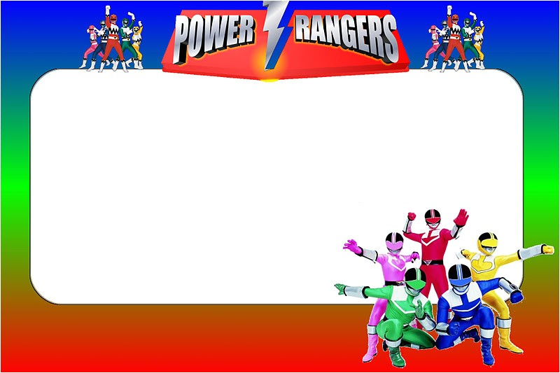 power rangers free printable invitations