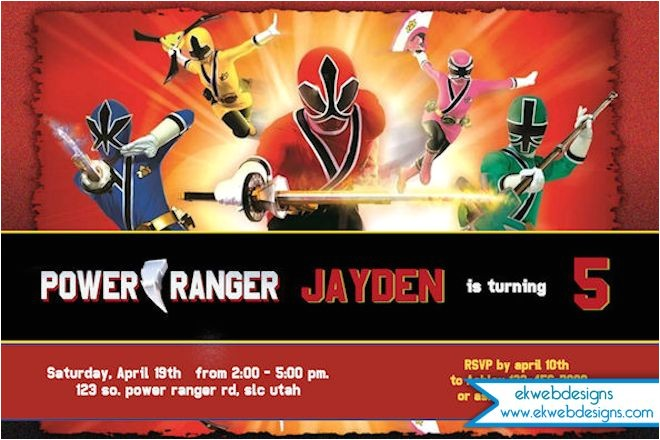power rangers invitation printable power rangers birthday party invitation customizable