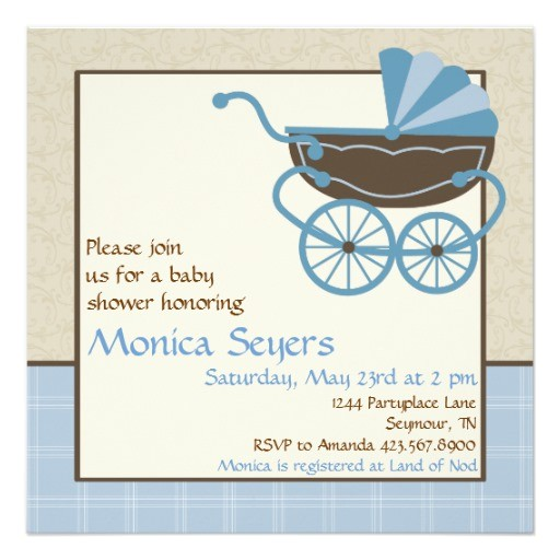 pram baby shower invitation