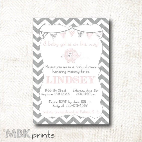 baby shower invitation with matching pre