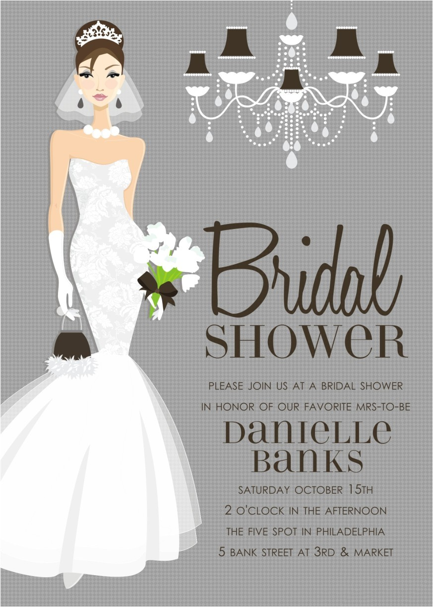 Pre Printed Bridal Shower Invitations In 298