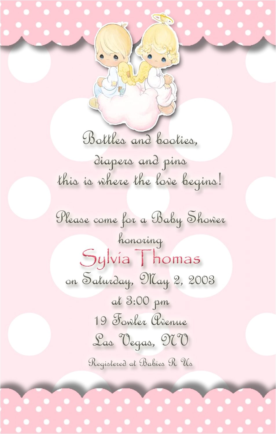 angels precious moments baby shower